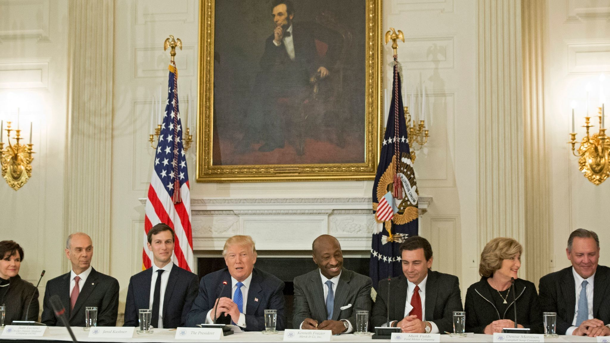 After CEO exodus, Trump ends two advisory councils