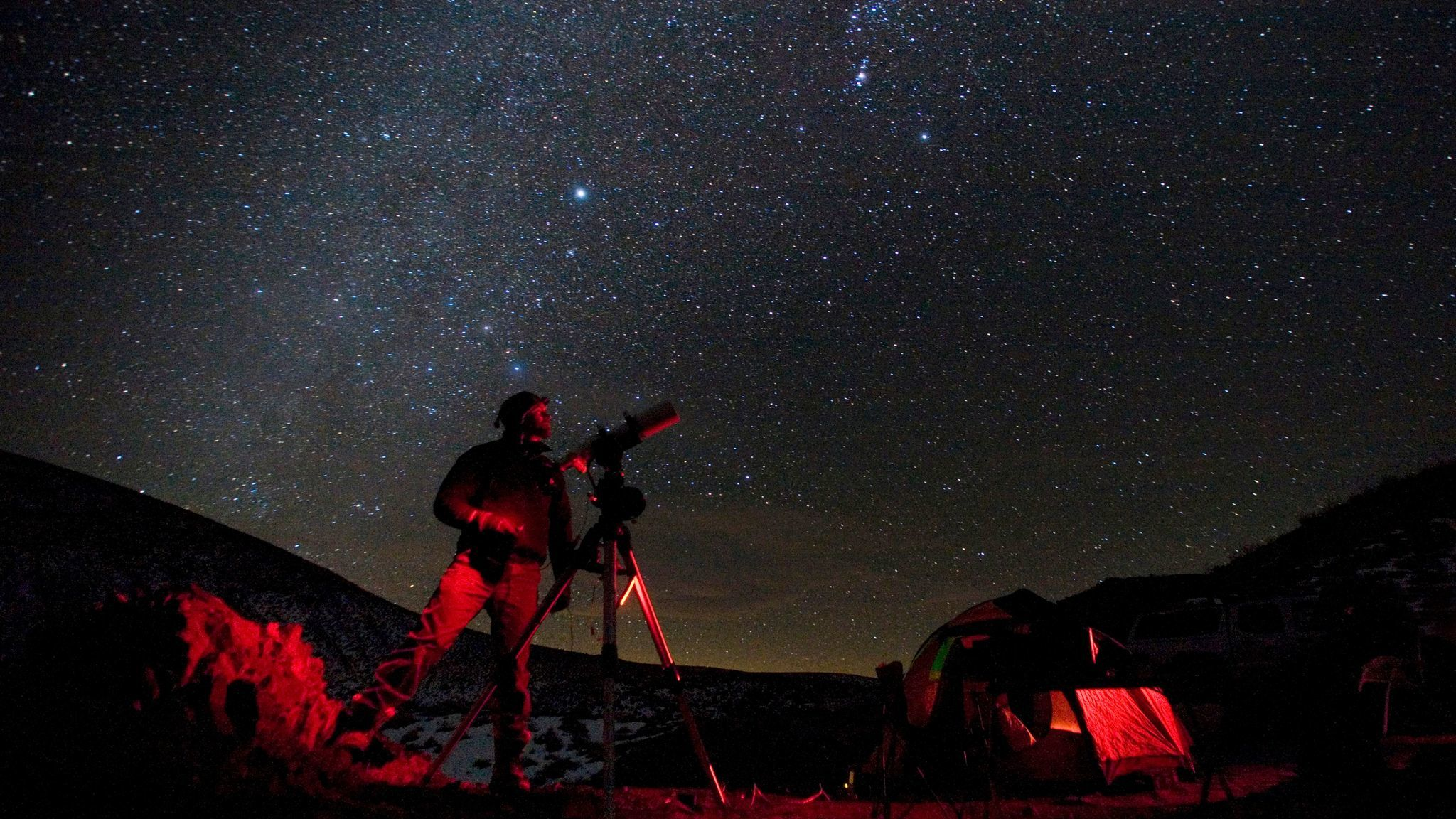 Taking in the night sky at Death Valley National Park.