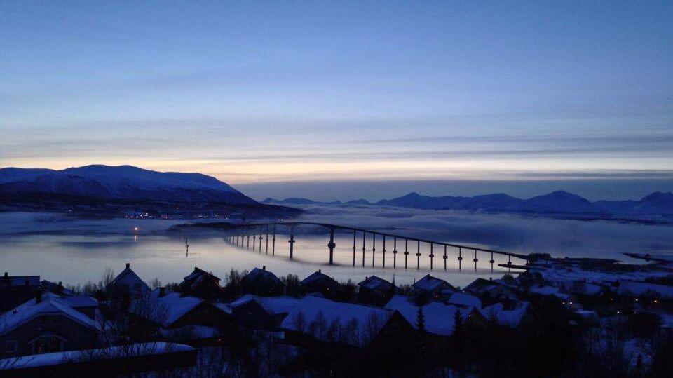 Polar night in Tromso, Norway.