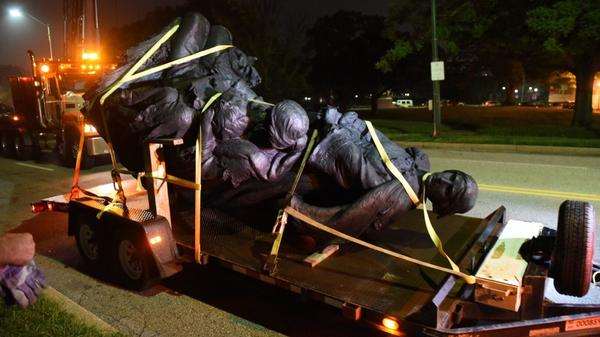Citing 'safety and security,' Pugh has Baltimore Confederate monuments taken down overnight