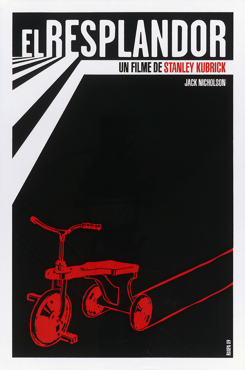 """El Resplandor,"" a Cuban film poster by Raúl Valdes to promote ""The Shining,"" at the Pasadena Museum of California Art."