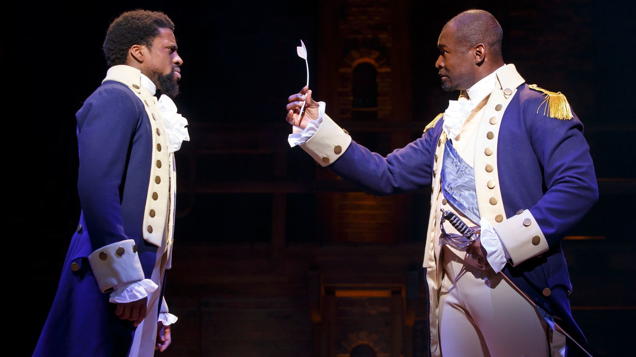 'Hamilton' brings its tale of American idealism to L.A. at a moment when it's needed