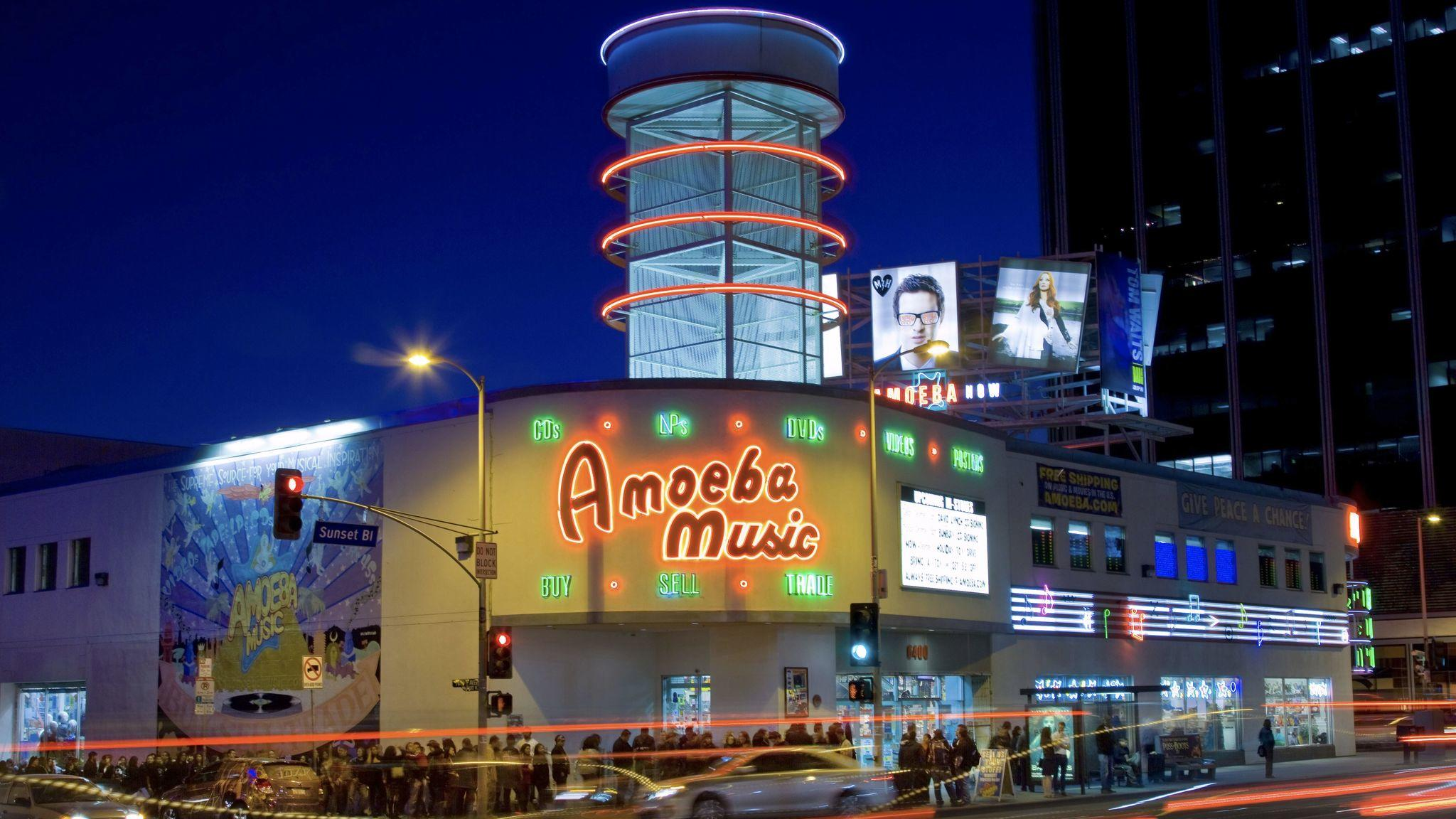 The Amoeba Music store on Sunset Boulevard. (Ricardo DeAratanha / Los Angeles Times)