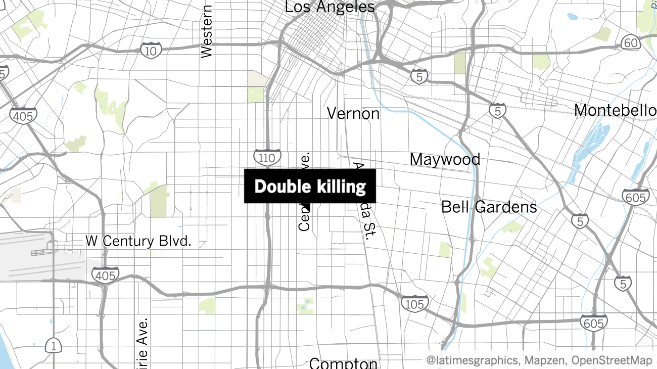 Police investigating double killing in South L.A.