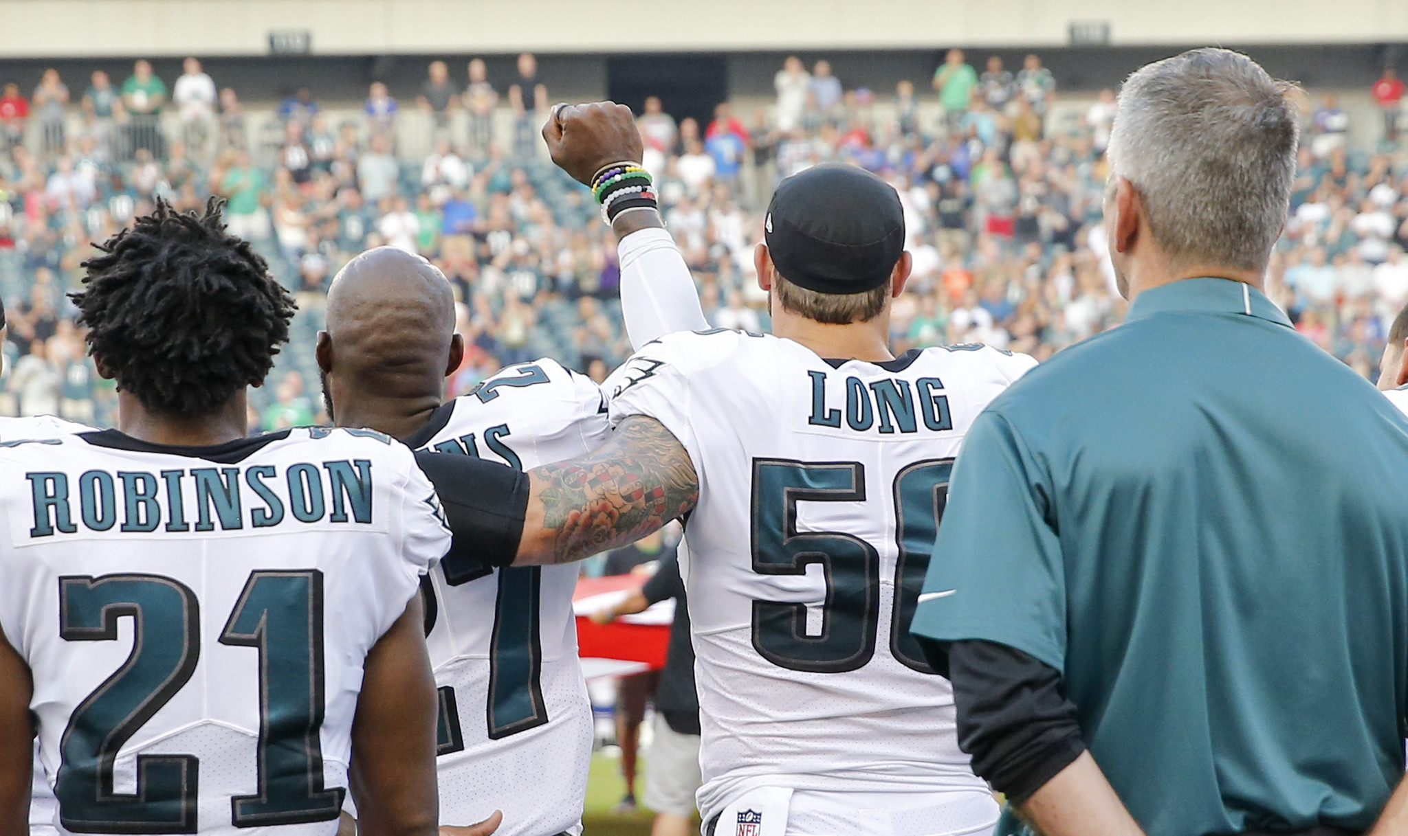 After the NFL s white players are called out Eagles Chris Long