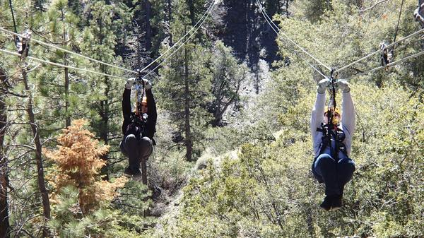 Watch the eclipse from 300 feet up on a zipline tour in the San Gabriel Mountains