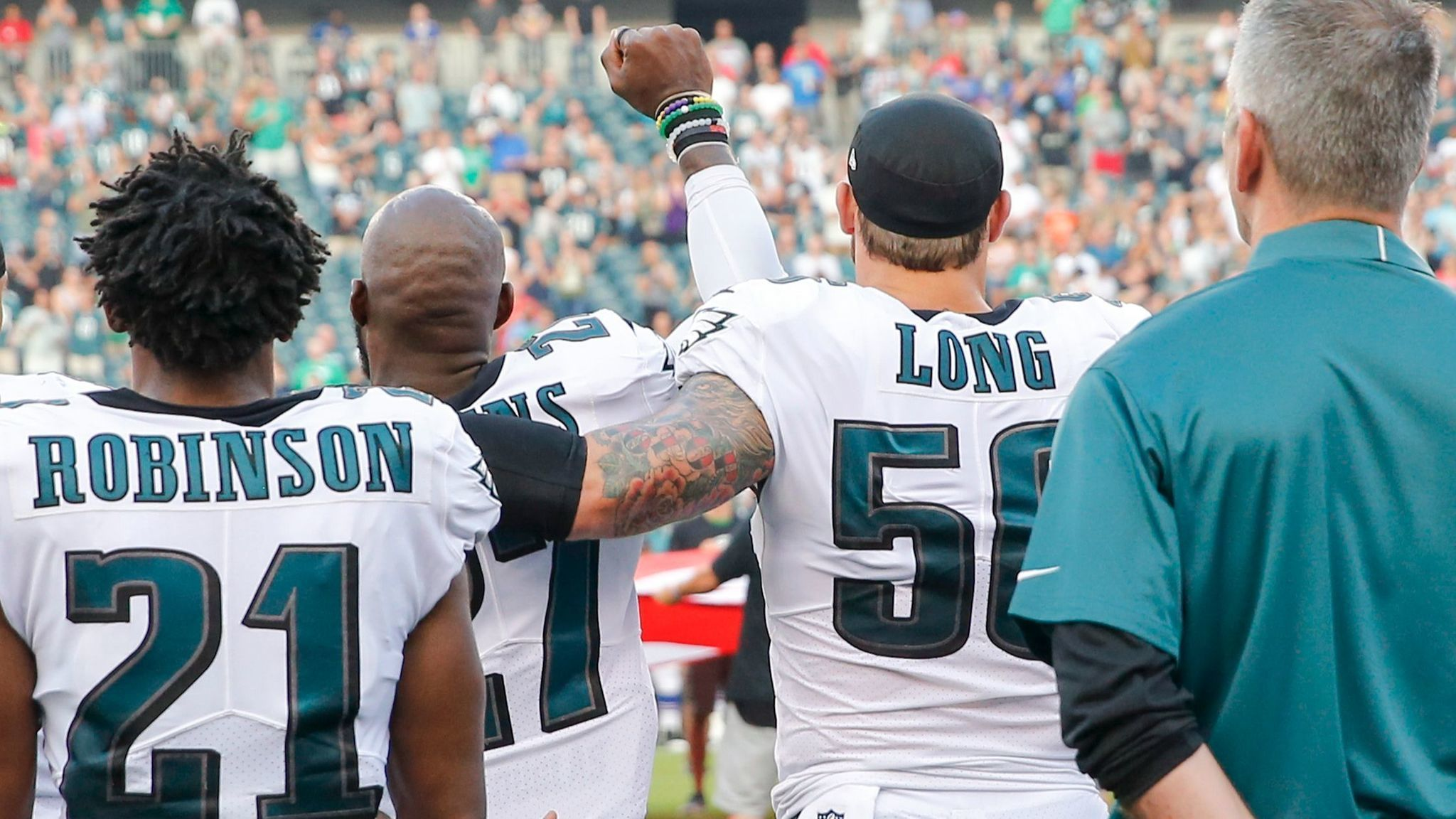 Eagles' Chris Long supports teammate Malcolm Jenkins ...