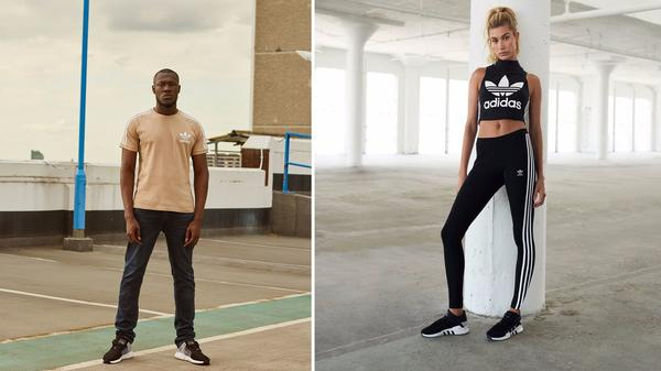 Adidas, JD Sports tap Hailey Baldwin and Stormzy for fall 2017 EQT advertising campaign