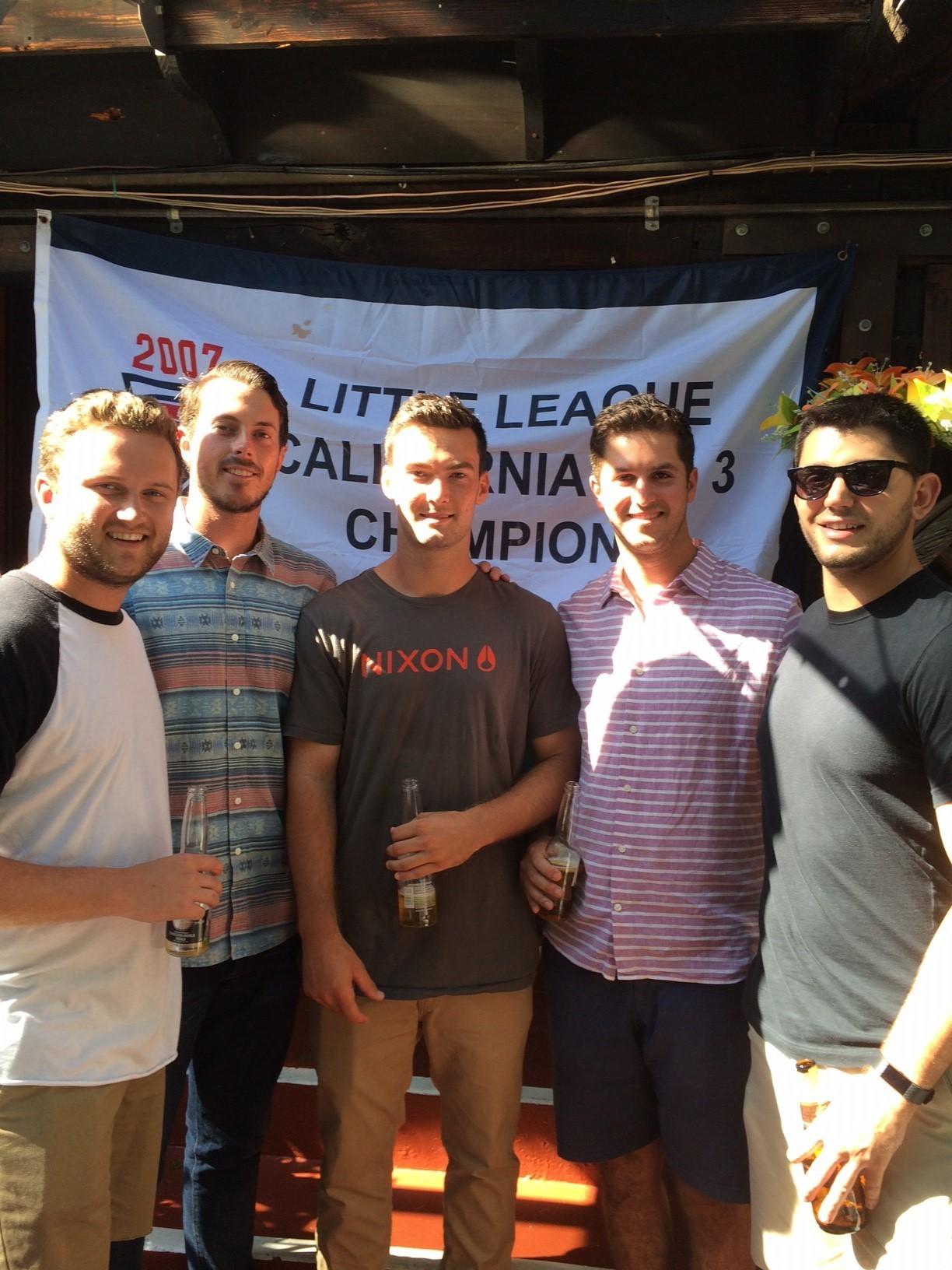 (L-r) Chad Thurston, Daniel Reitzler, Hayden Grant, Evan Schreiber, Trevor Semerdjian