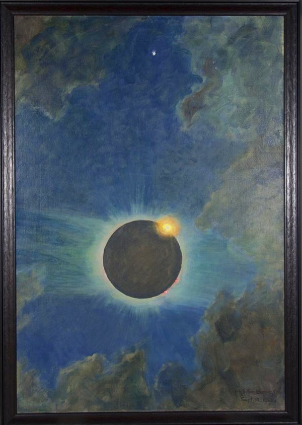 """Howard Russell Butler's """"California Solar Eclipse,"""" 1923. Oil on canvas, 49 inches by 33.5 inches."""
