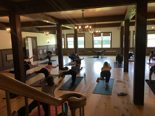 Wine and yoga provide a fresh mix for Williamsburg Winery