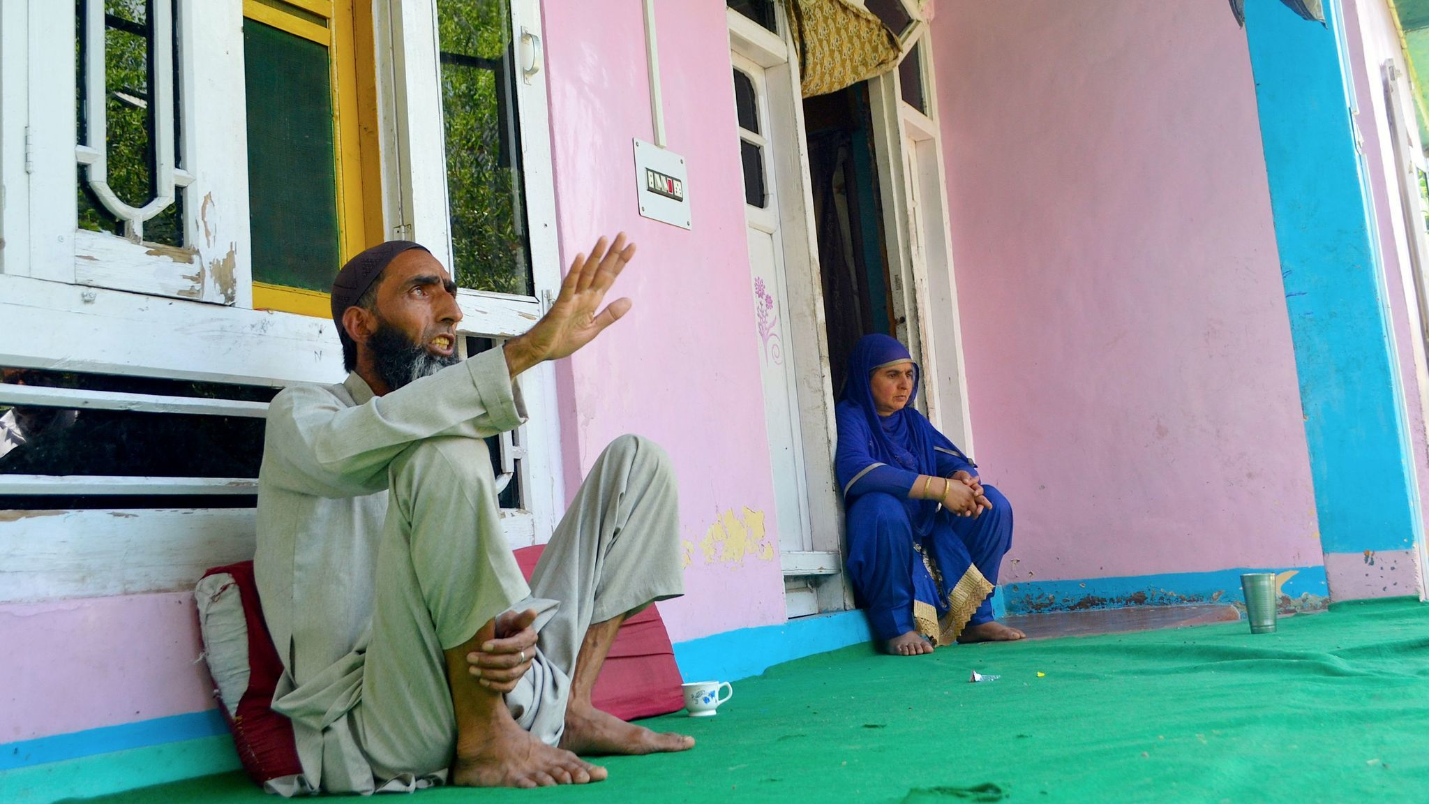 Bashir Ahmad Wani and his wife, Mehmooda Wani, learned their son was accused in a deadly attack on Hindu pilgrims in July 2017.