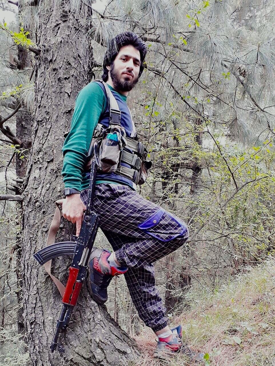 Shakoor Ahmad Dar is seen in a photo posted on Facebook.