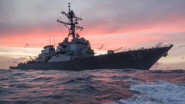 10 sailors missing, 5 injured after U.S. Navy destroyer collides with tanker near Singapore
