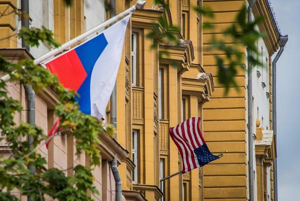 The U.S. embassy in Moscow (Mladen Antonov / AFP/Getty Images)