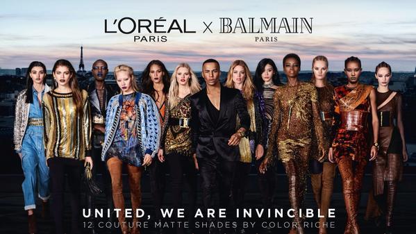 French kisses: L'Oréal, Balmain unveil ad campaign for collaborative lipstick collection