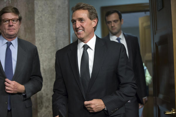 On eve of Trump's Arizona rally, GOP Sen. Jeff Flake — a vocal critic — isn't worried about blowback