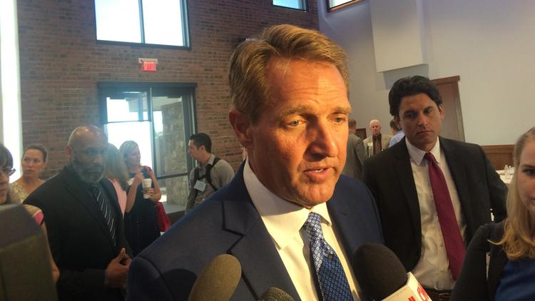 Republican Arizona Sen. Jeff Flake. (Kurtis Lee / Los Angeles Times)