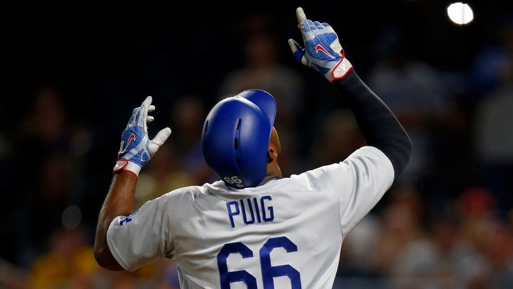 Dodgers beat Pirates with Yasiel Puig's solo homer in 12th inning