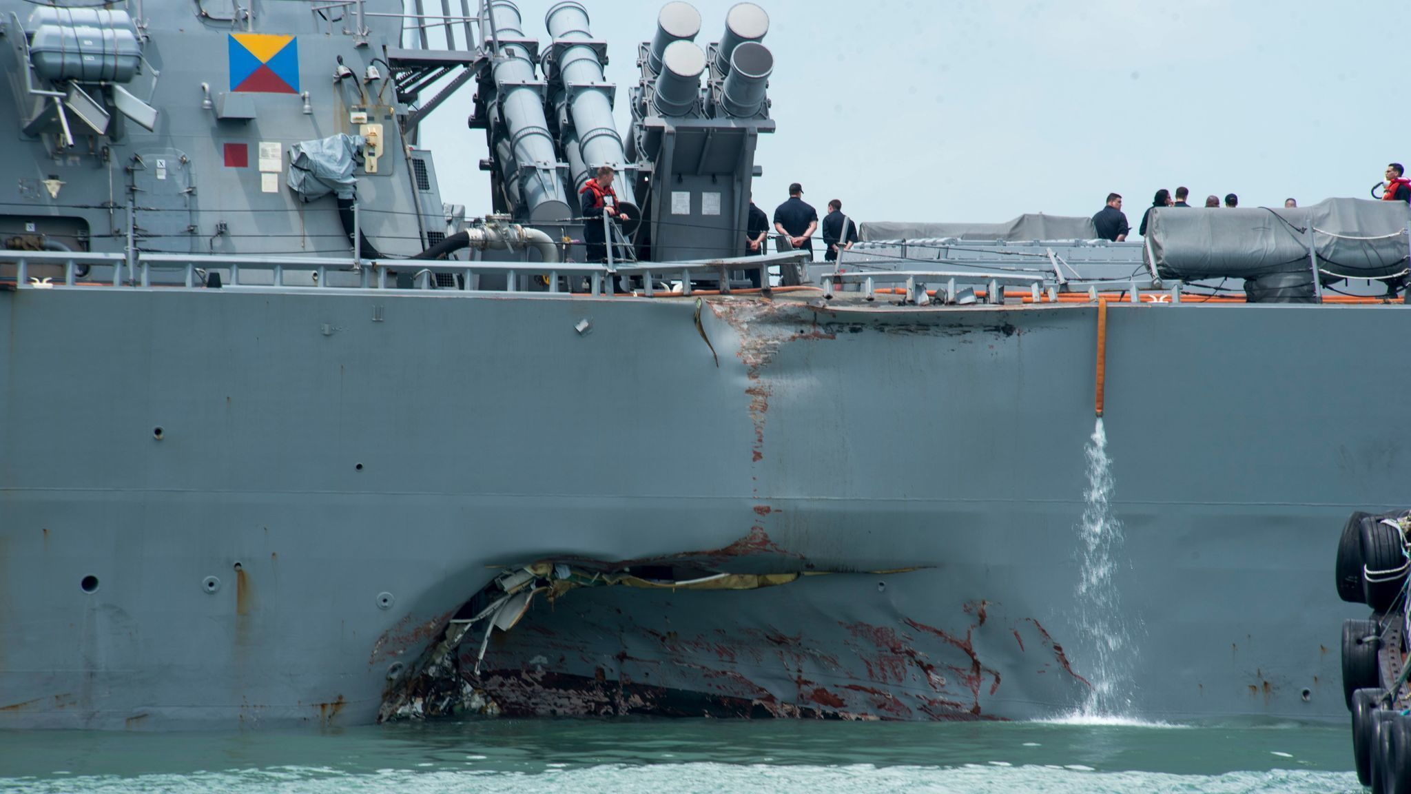 Some remains of Navy sailors found after USS John McCain crash