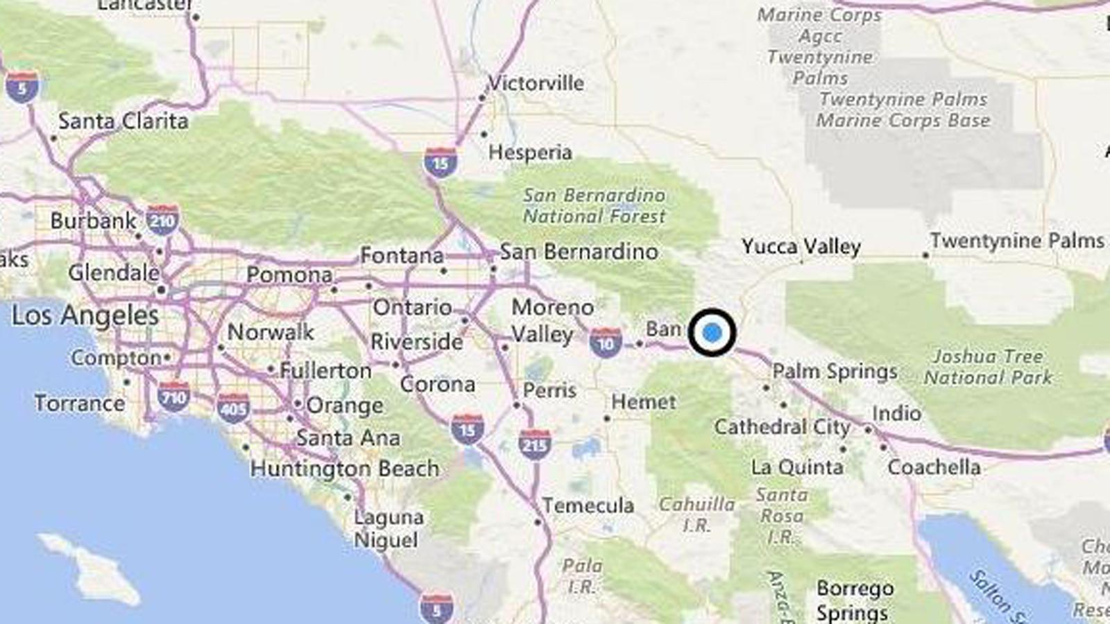 Earthquake Magnitude 32 quake strikes near Palm Springs  LA Times