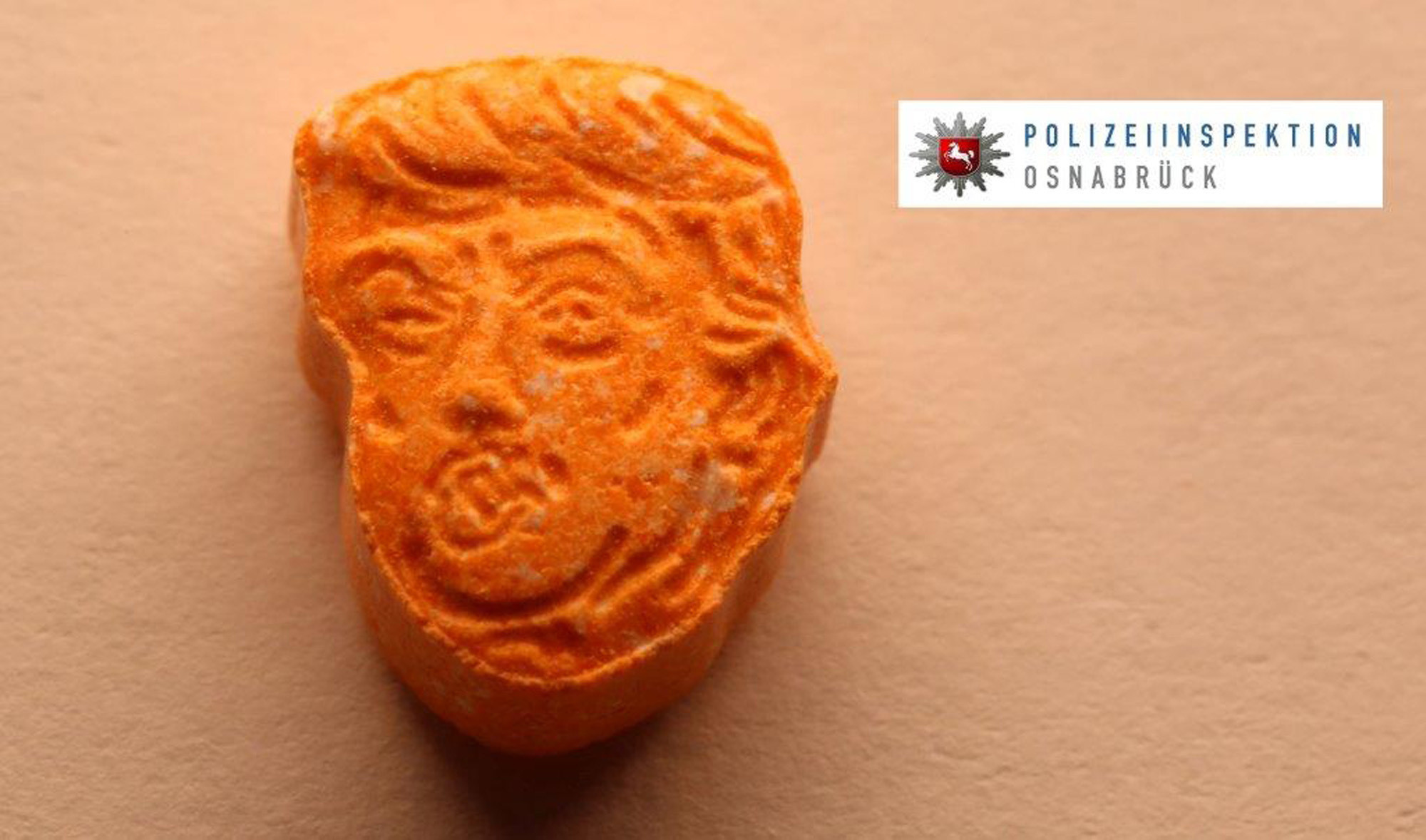 German police seize thousands of orange ecstasy pills with Trump's face on them