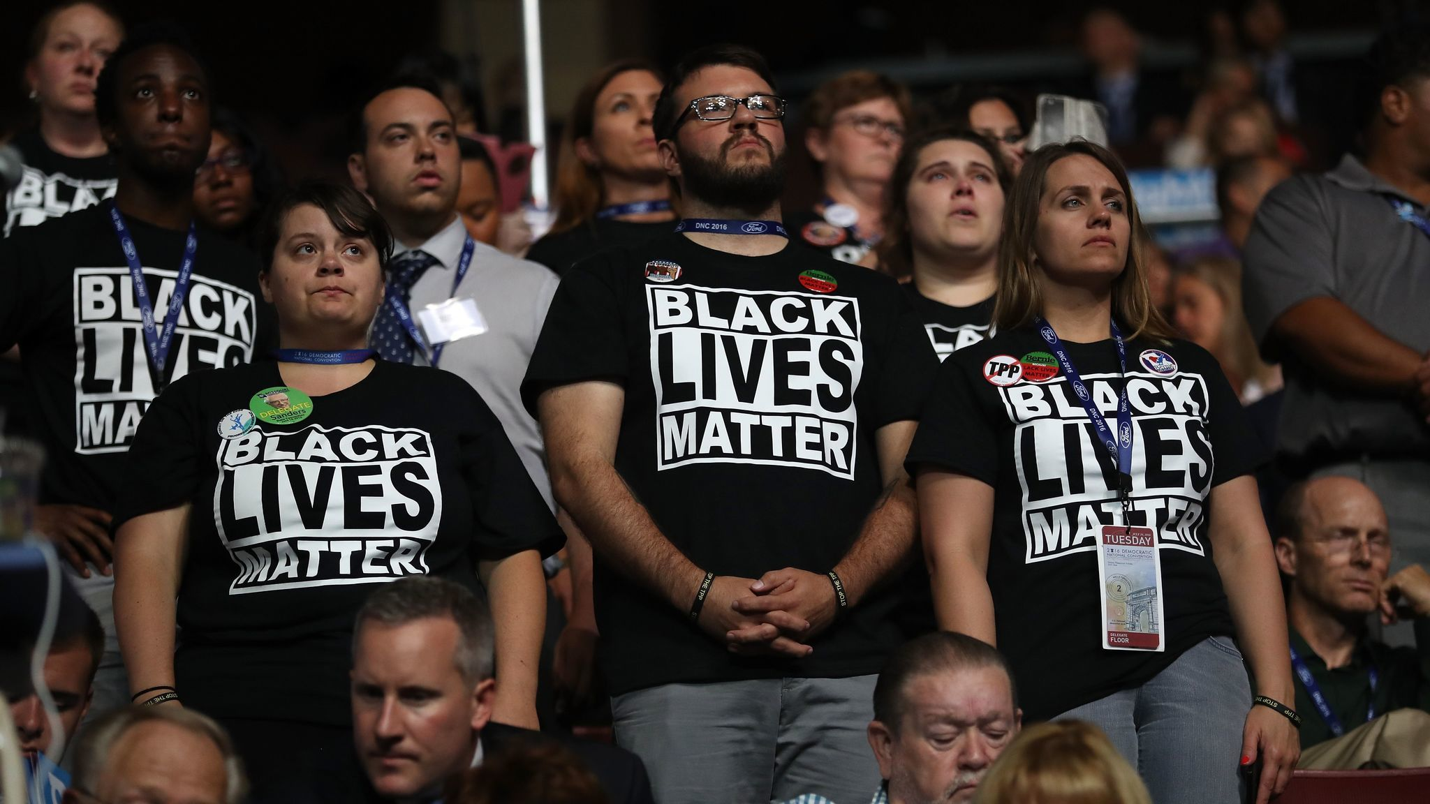 A message at the Democratic National Convention in July 2016.
