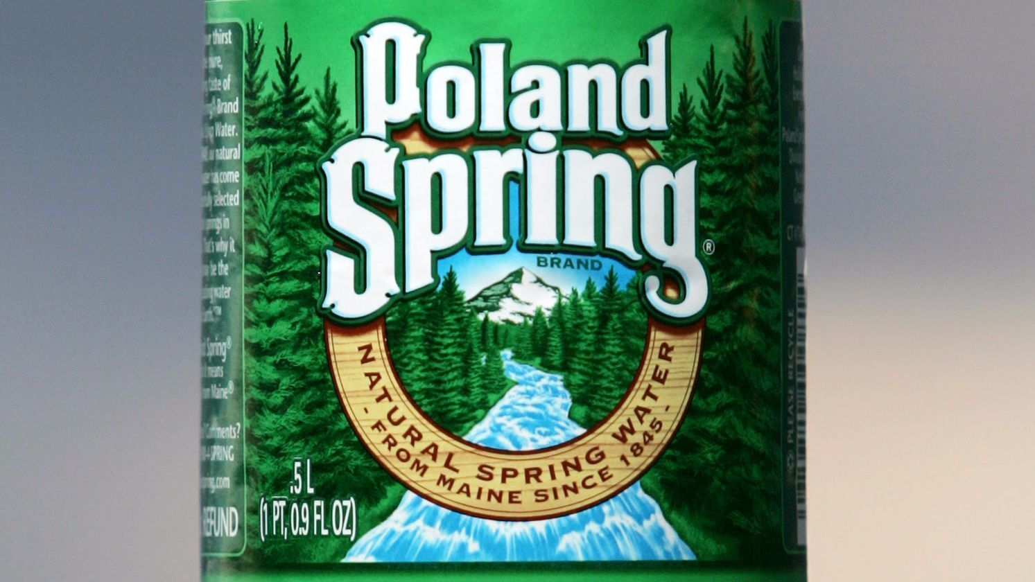 'Not one drop' of Poland Spring bottled water is from a spring, lawsuit says
