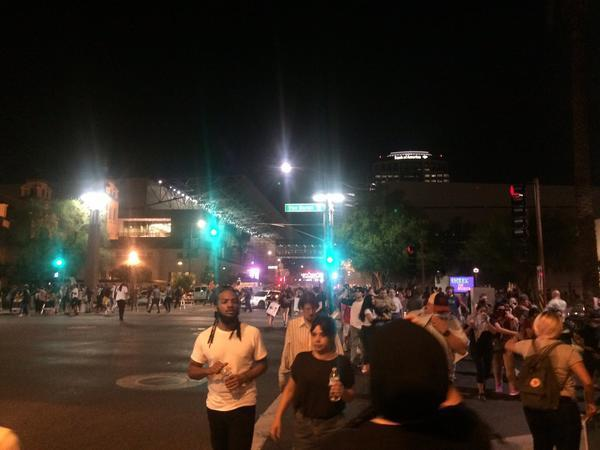 Phoenix police deploy tear gas on protesters as Trump rally ends