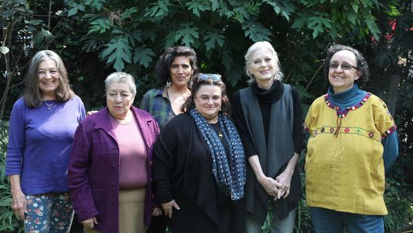 """Radical Women"" in Mexico City, from left: Lourdes Grobet, Ana Victoria Jimenez, Julia Antivilo Peña, Karen Cordero, Carla Rippey and Mónica Mayer."