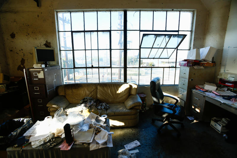 The Interior Of One Offices At A Sewing Factory In Downtown Los Angeles Owner Says He Produces Clothes For Tjma And Cannot Afford To Pay
