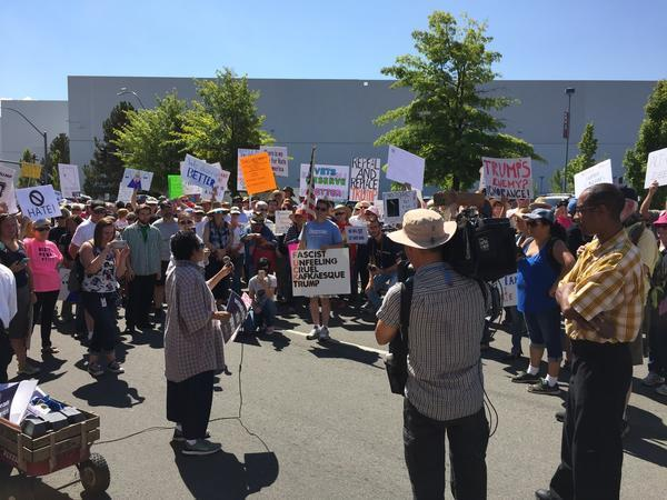 Lots of noise, no fireworks, at Trump protest in Reno