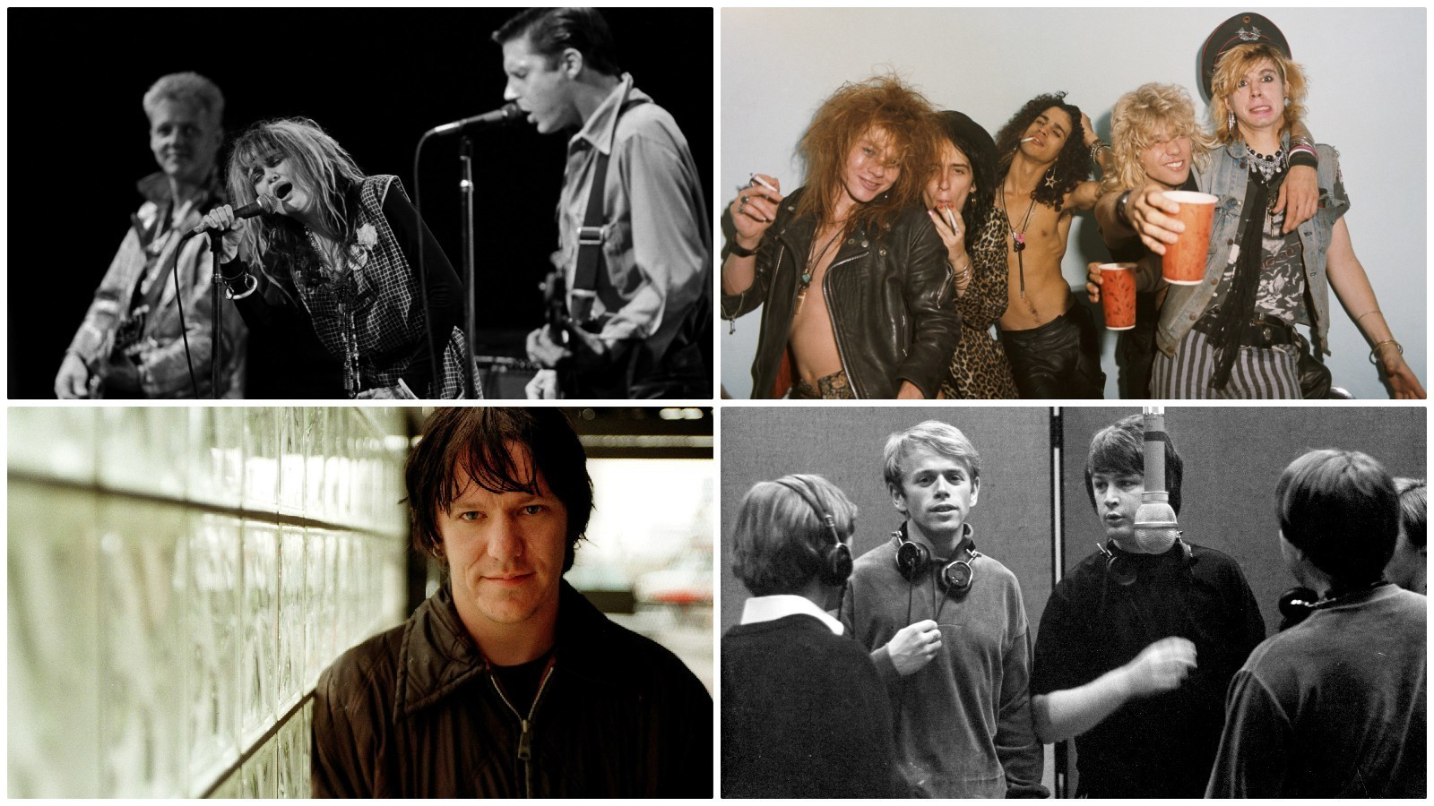 Clockwise from top left: X, Guns n' Roses, the Beach Boys and Elliott Smith. (George Rose / Getty Images; Jack Lue / Michael Ochs Archives / Getty Images; Michael Ochs Archives / Getty Images; Robert Gauthier / Los Angeles Times)