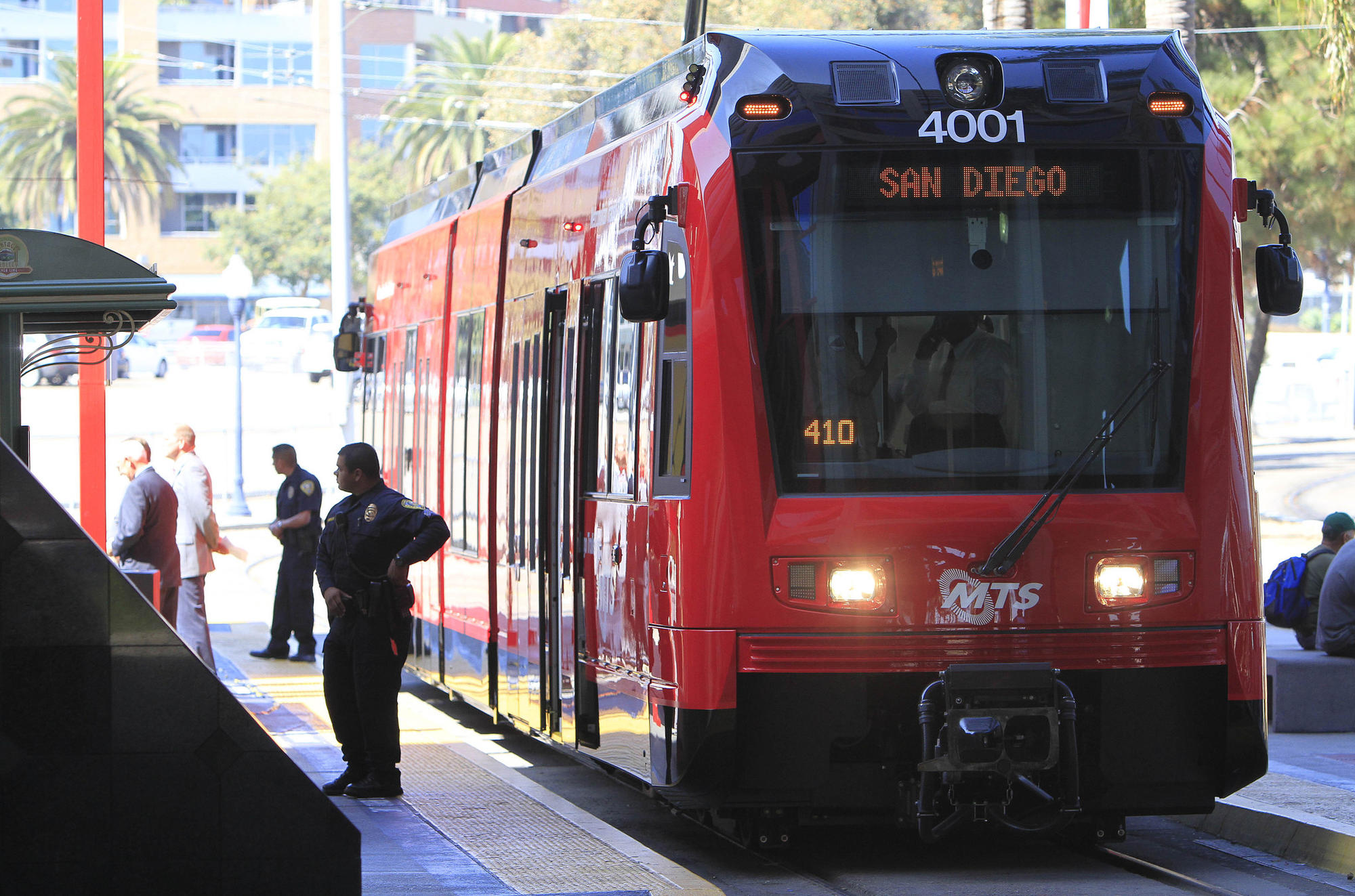9/29/2011San Diego , Ca The Metropolitan Transit System showed off one of its 57 new low floor troll