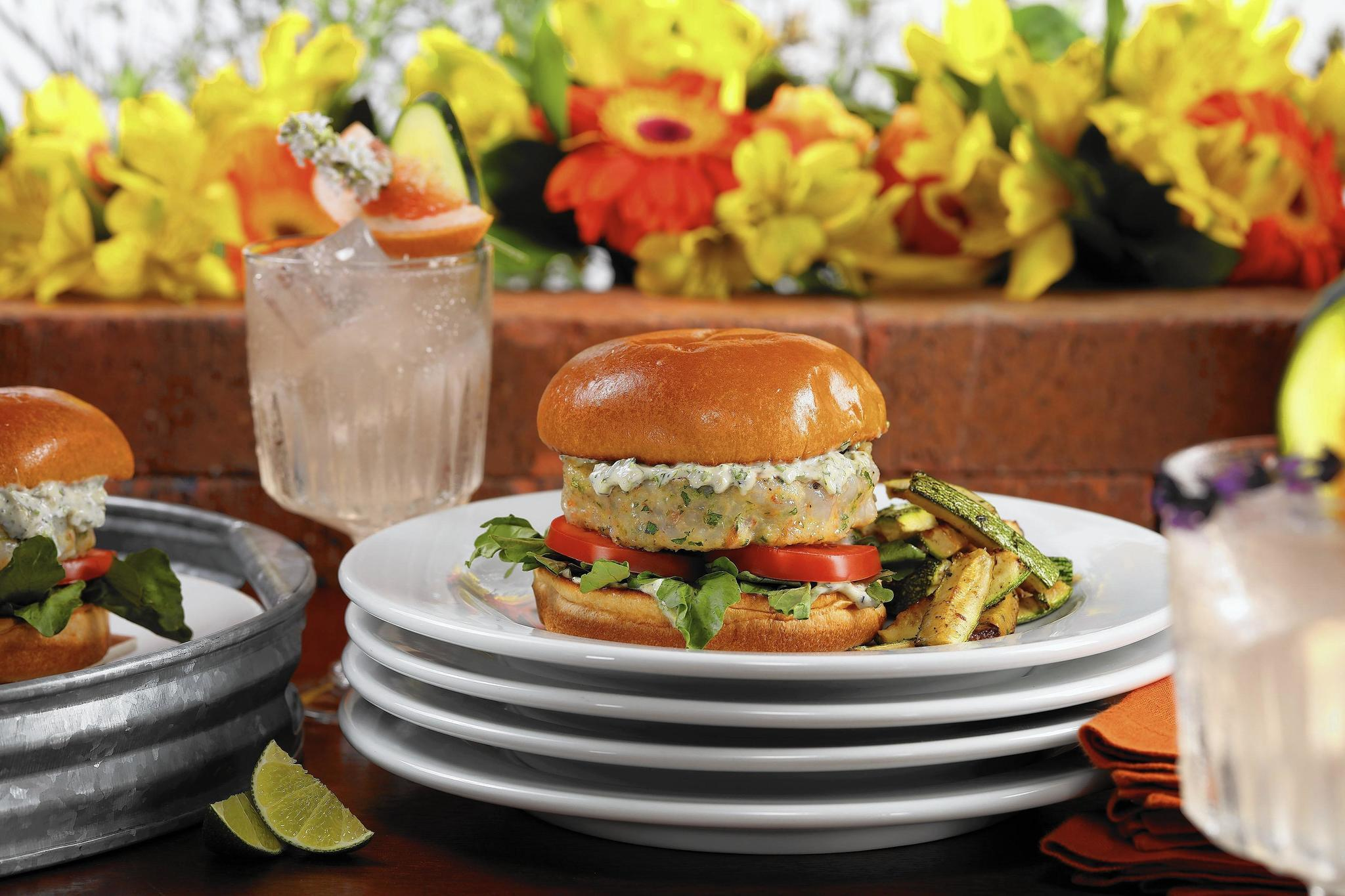 Shrimp burgers and herbed gin and tonics: A Labor Day to remember