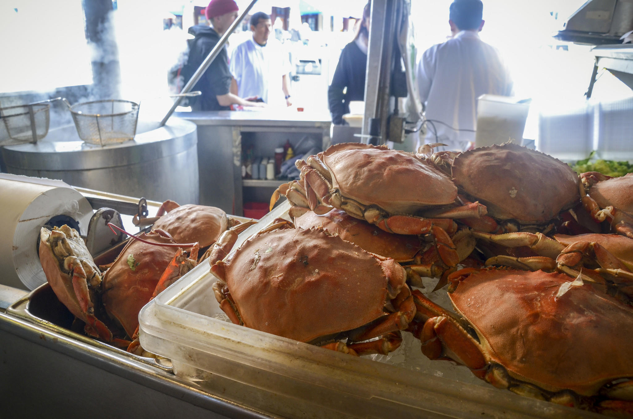 Crab stand at Fisherman's Wharf, San Francisco.