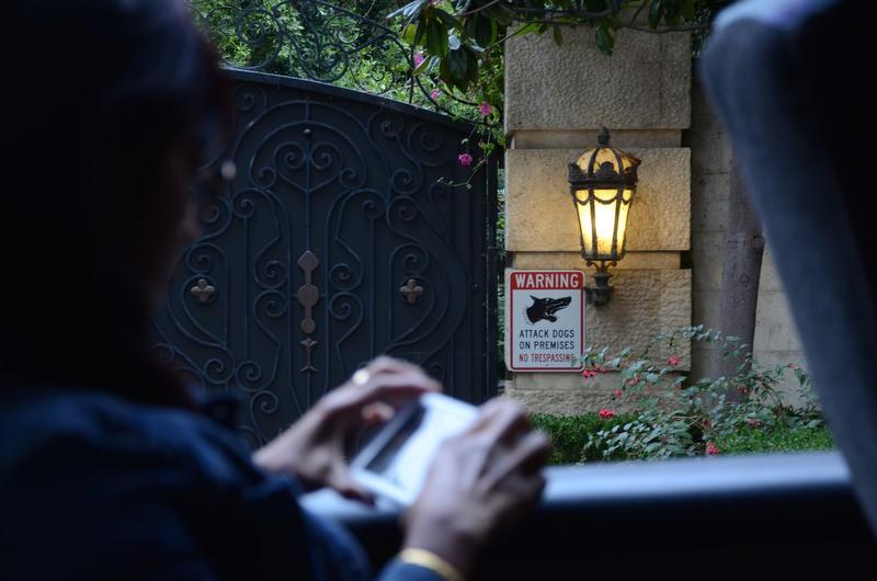 The gate of the home where Michael Jackson died, in Holmby Hills. (Christopher Reynolds/Los Angeles Times)