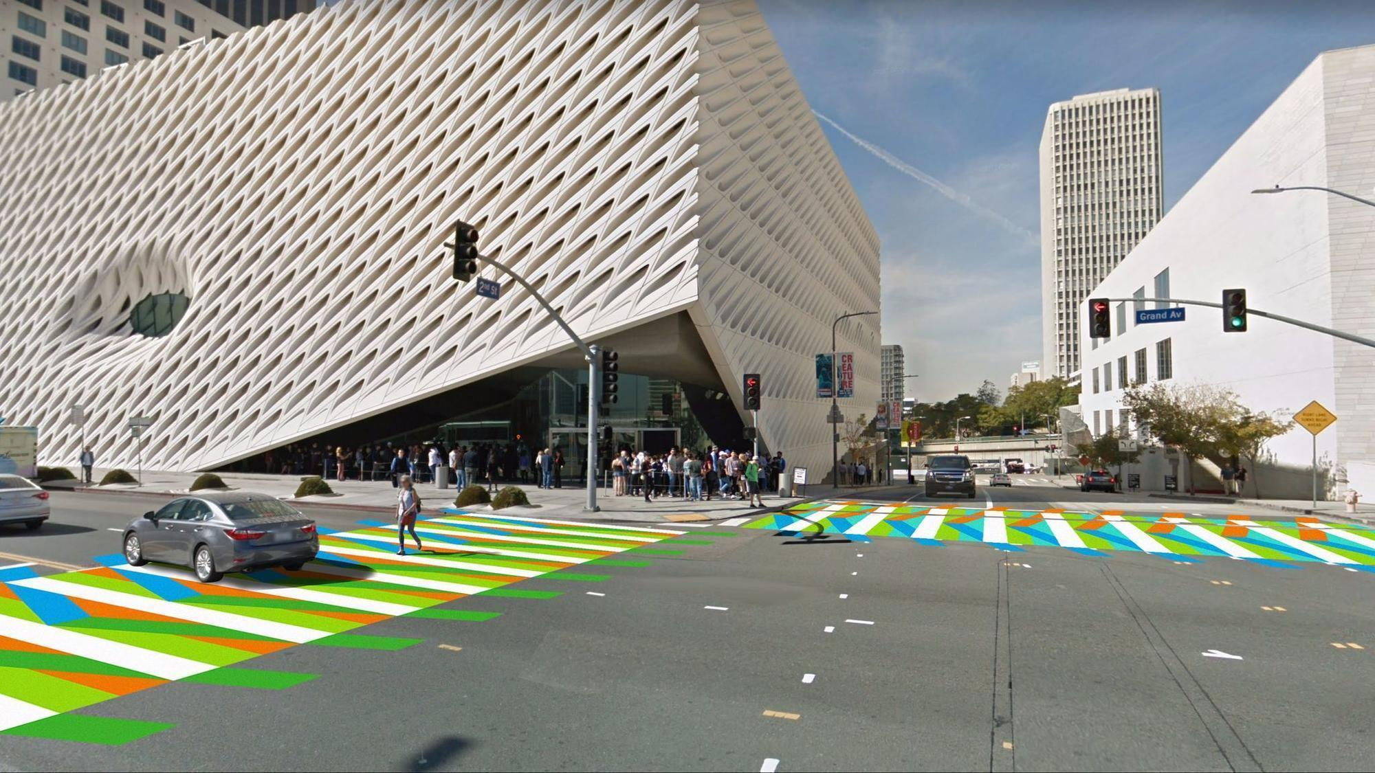 Color car los angeles - Grand Avenue Is Getting Color Artist Carlos Cruz Diez S Street Installation At The Broad For Pst La La La Times