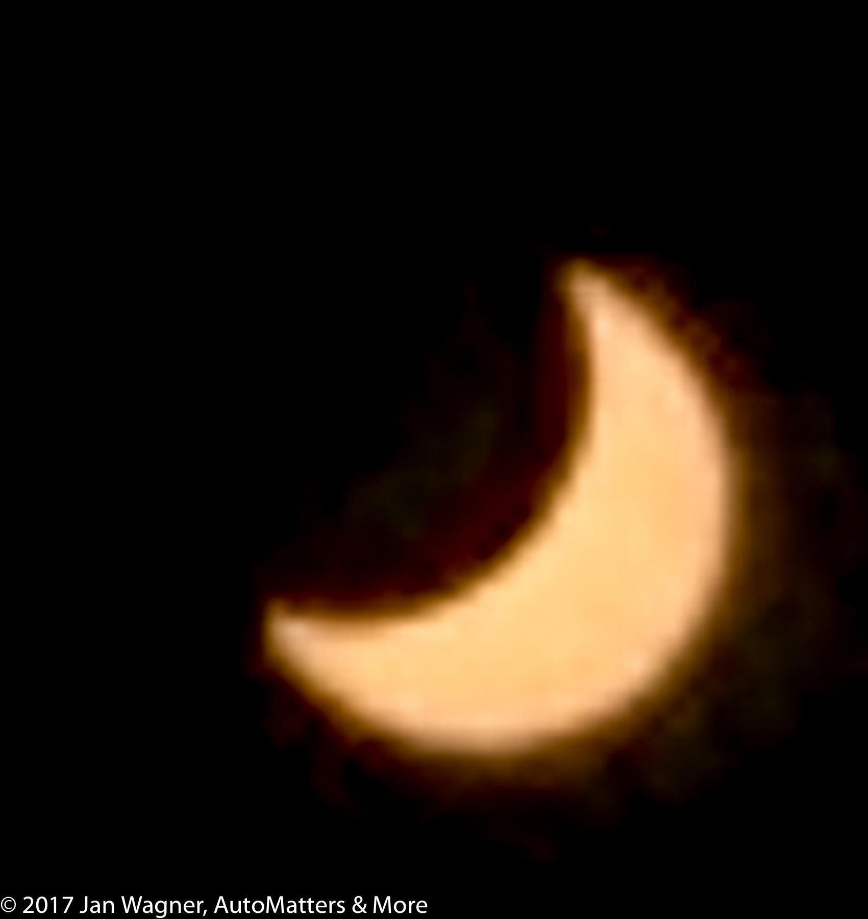 Maximum eclipse coverage for San Diego - iPhone photo