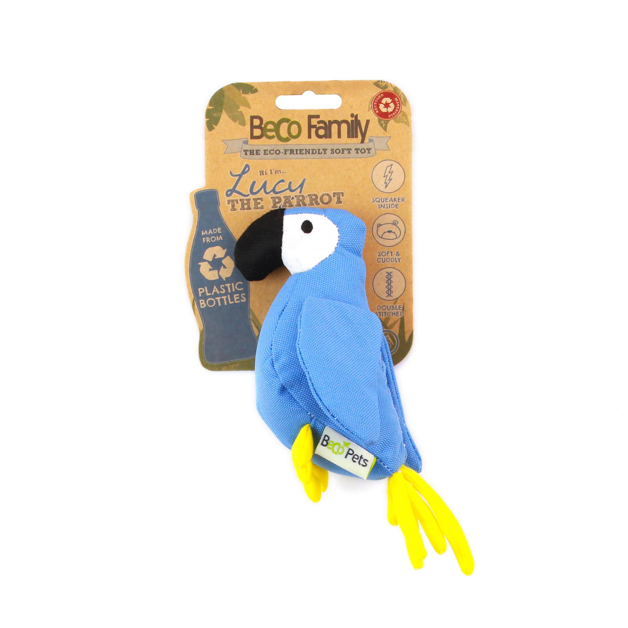 Plush parrot toy