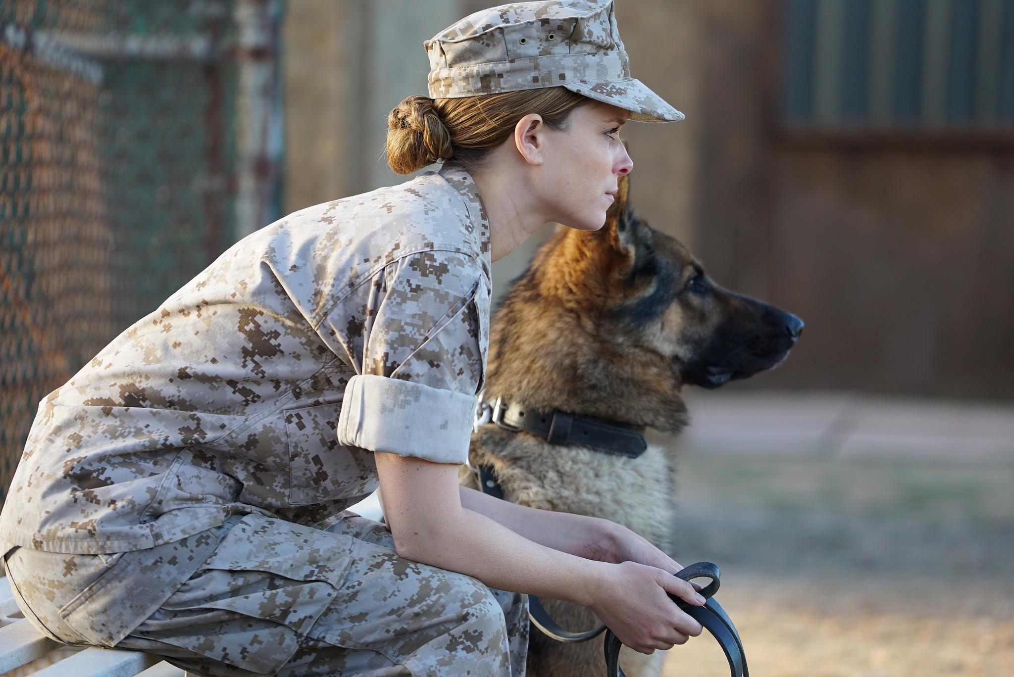 "Kate Mara stars as Megan Leavey in Gabriella Copperthwaite's ""Megan Leavey."" (Jacob Yakob / Dogs of War / Bleecker Street)"