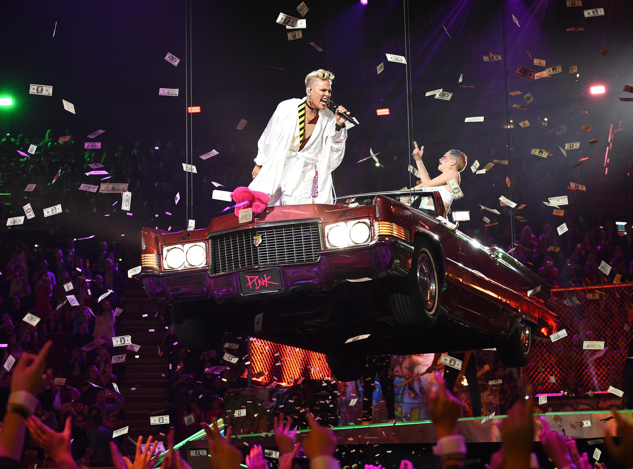 Pink performs onstage during the 2017 MTV Video Music Awards on Sunday. (Joshua Blanchard / MTV1617 / Getty Images for MTV)