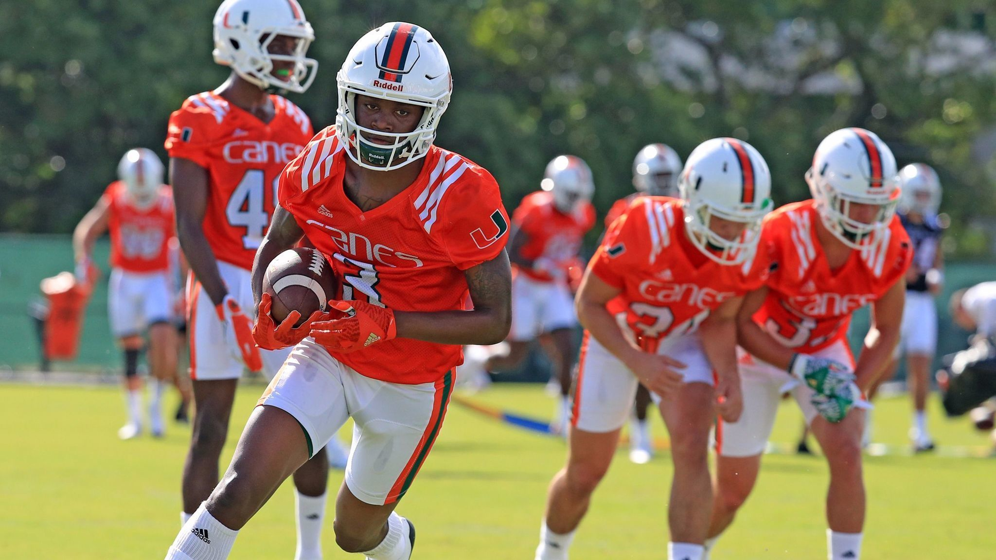 Hurricanes wr mike harley set to start if ahmmon richards can t go in opener sun sentinel
