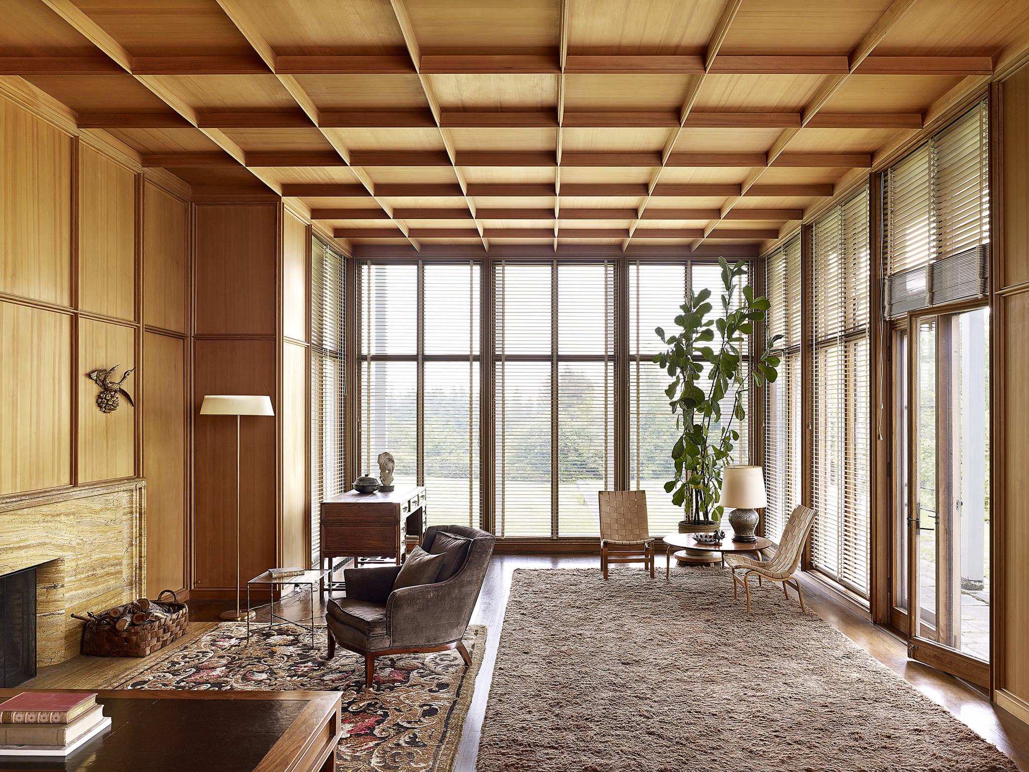 The living room of the Watzek House