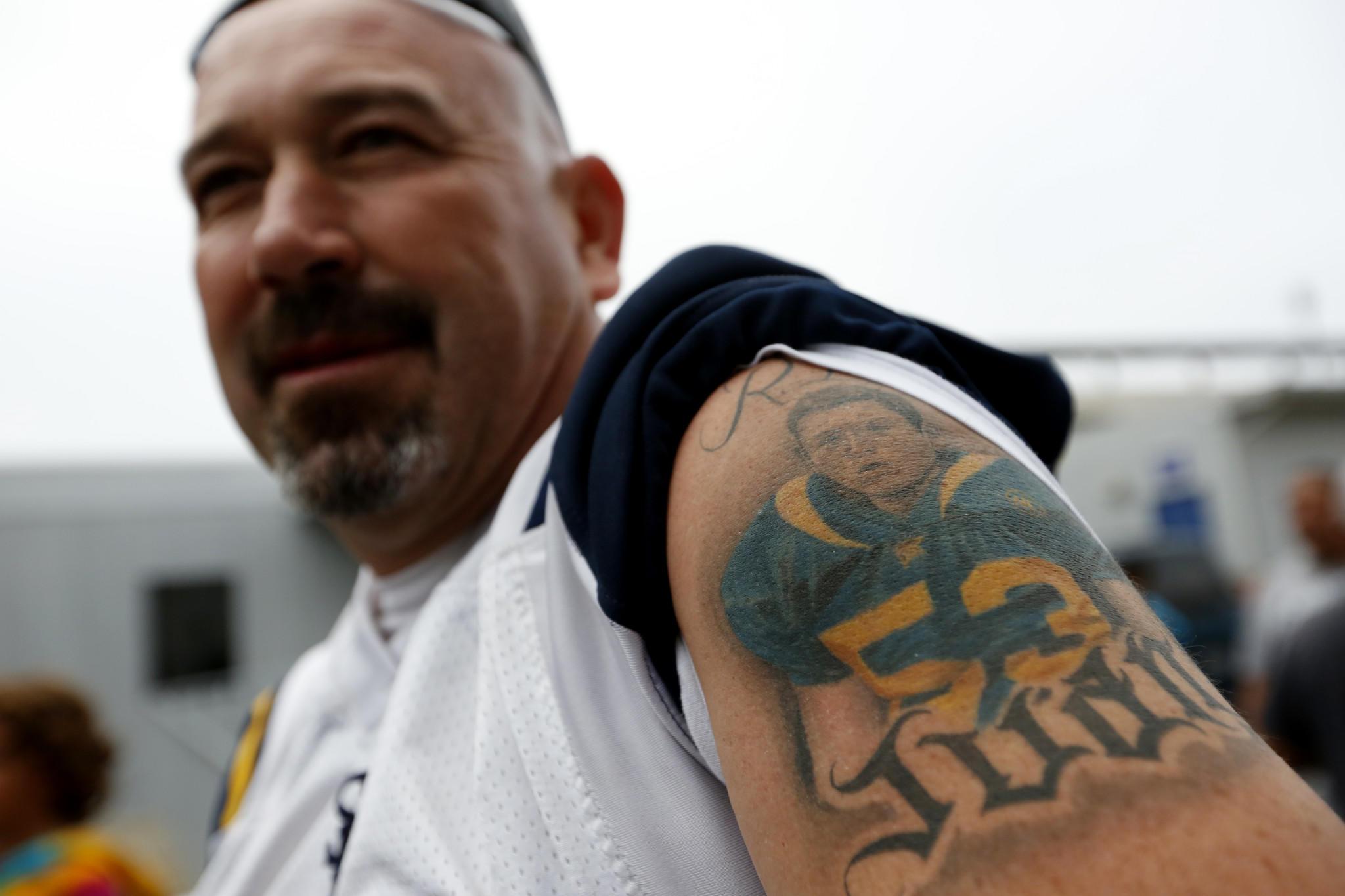 Jorge Castillo Sr.'s new tattoo