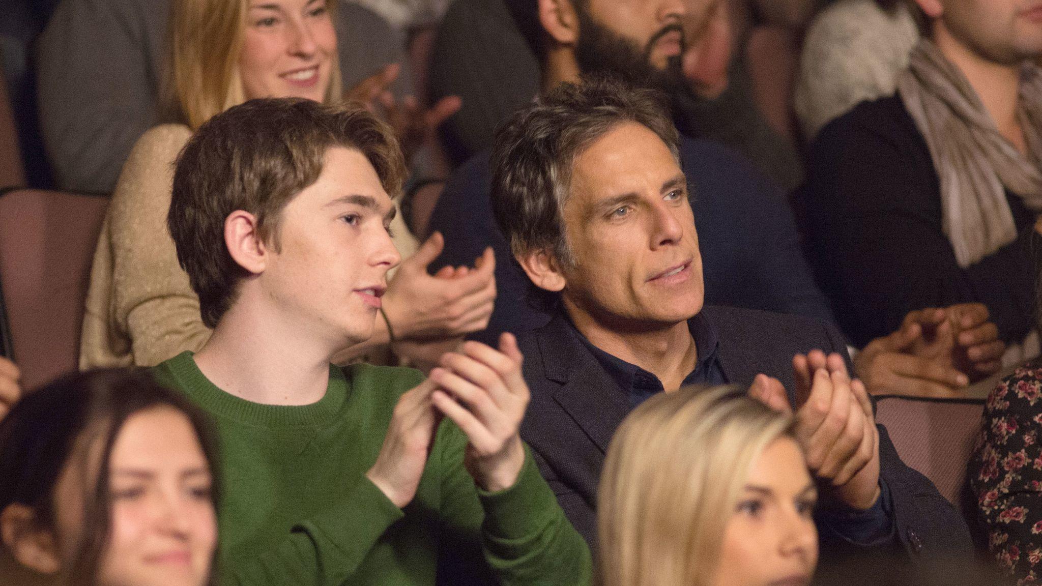 "Jonathan Wenk / Amazon Studios (Ben Stiller, right, with Austin Abrams in Mike White's ""Brad's Status."")"