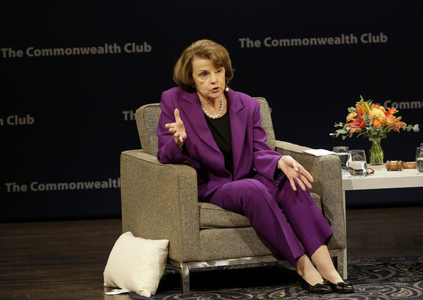 Sen. Dianne Feinstein is seen at the Commonwealth Club in San Francisco. (Jeff Chiu / Associated Press)