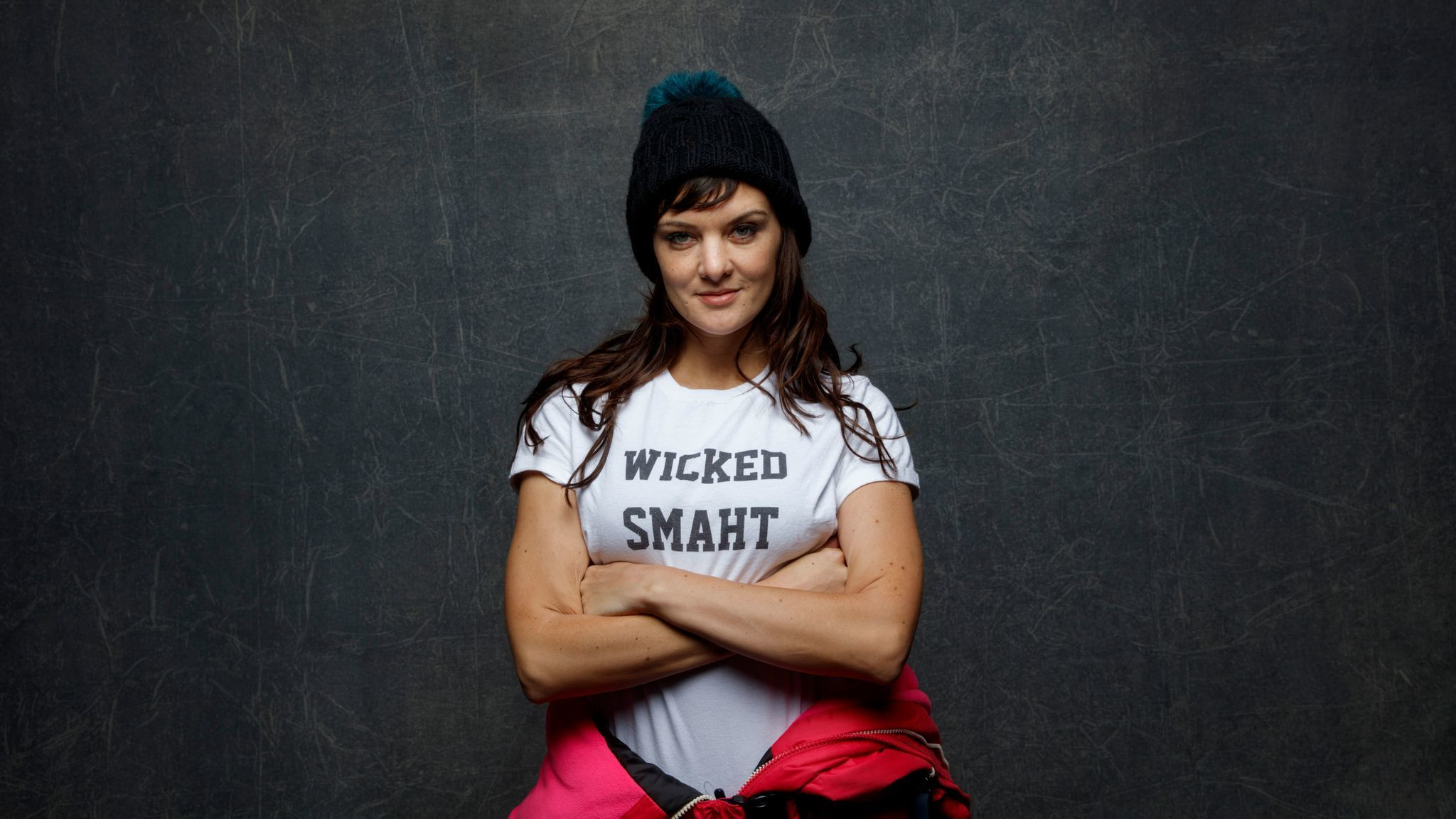 "Frankie Shaw, director/writer for ""SMILF"" photographed at Sundance in 2016."