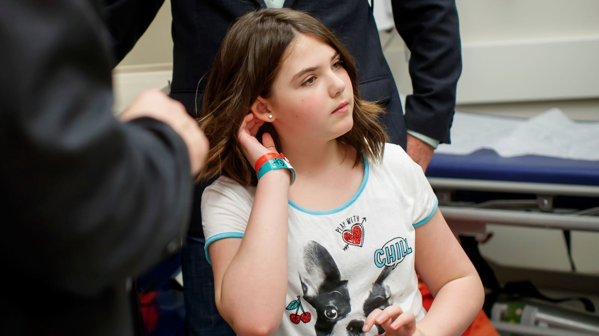 Emily Whitehead in May, five years after she became the first pediatric patient in the world to receive the CAR T therapy. Her leukemia is now in long-term remission. The FDA approved the drug on Wednesday.