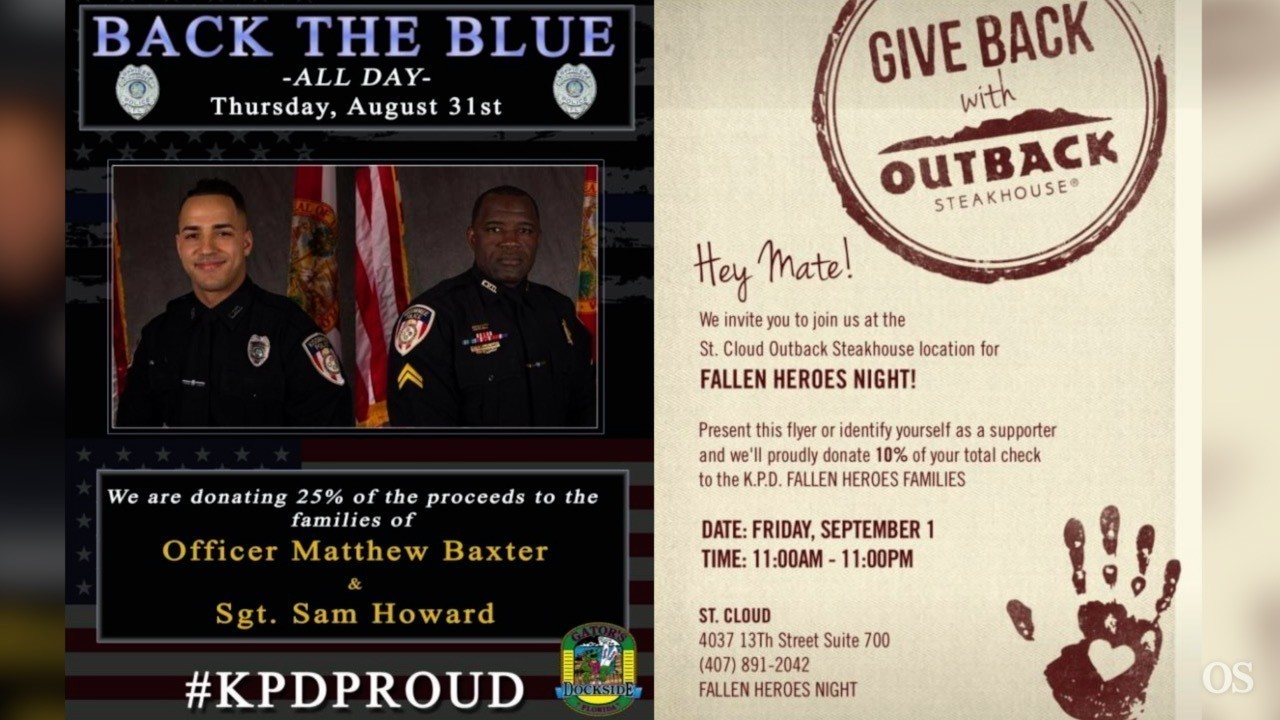 Two St Cloud Restaurants Holding Fundraisers For Fallen Officers